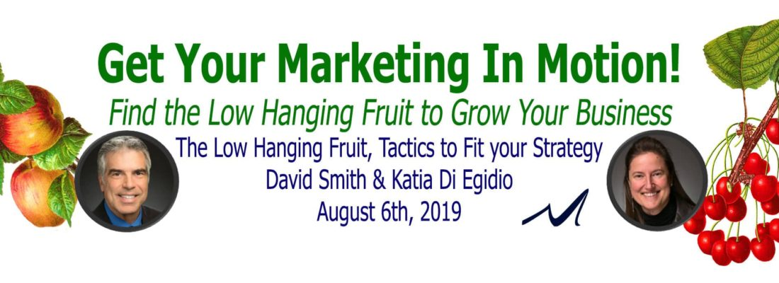 The Low Hanging Fruit, Tactics to Fit your Strategy