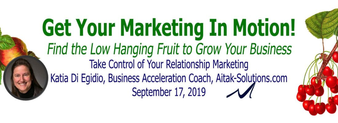 Take control of your relationship marketing.   Katia Di Egidio