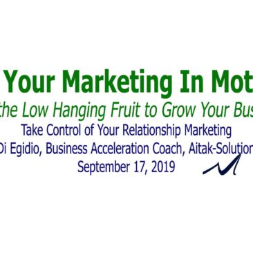 Take control of your relationship marketing. | Katia Di Egidio