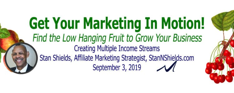 Creating Multiple Income Streams – Low Hanging Fruit | Stan Shields