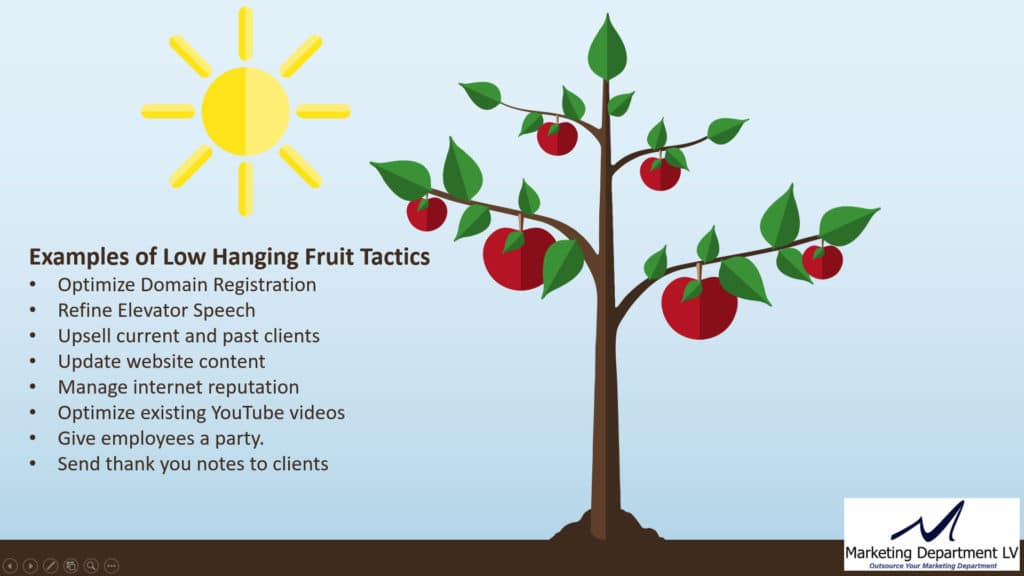 Examples of Low Hanging Fruit Marketing Tactics