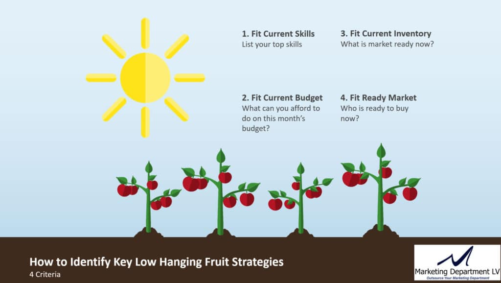 4 Ways to Identify Low Hanging Fruit Marketing Strategies