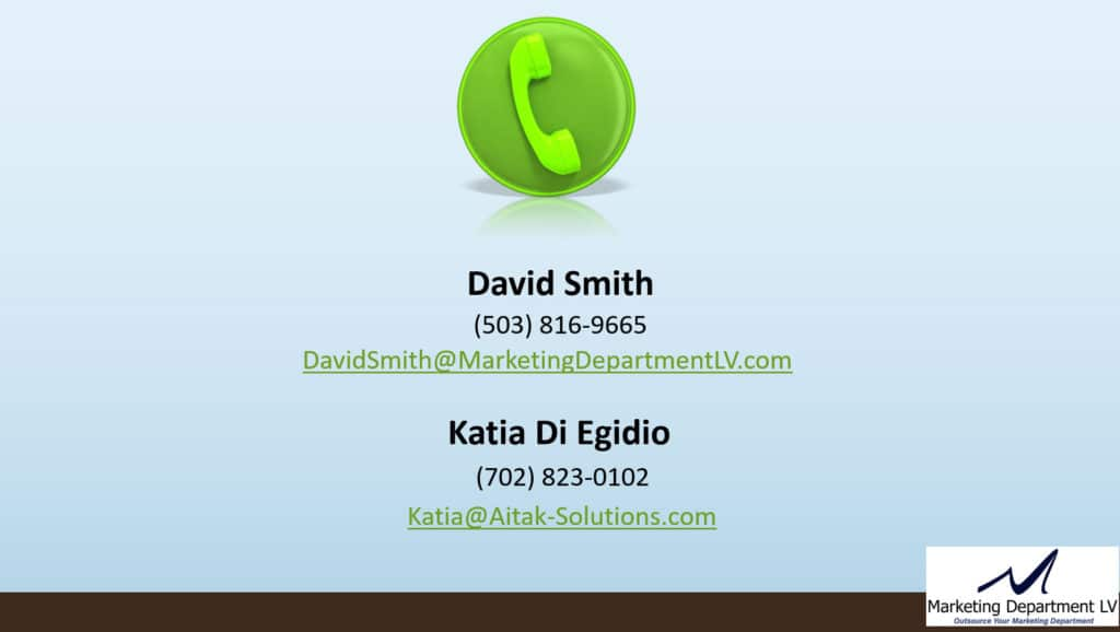 How to Contact David Smith and Katia Di Egidio