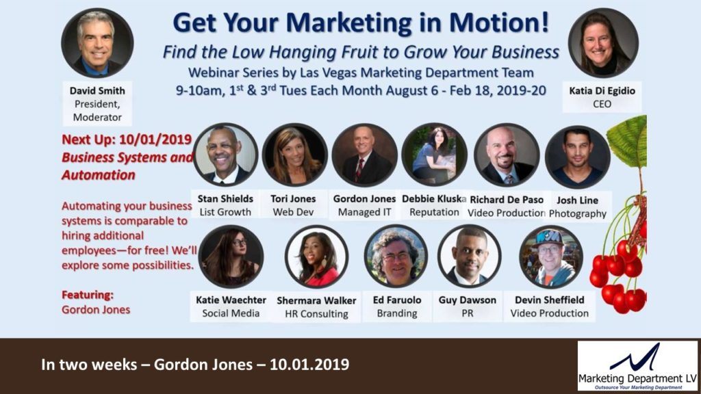 Take Control of Your Relationship Marketing, Katia DiEgidio, Webinar in the Series Get Your Marketing In Motion by the Team of MarketingDepartmentLV.com Slide 018