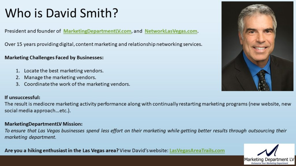 Business Systems and Automation | Gordon Jones, Webinar in Series Get Your Marketing In Motion by the Team of MarketingDepartmentLV.com in Las Vegas Slide 002