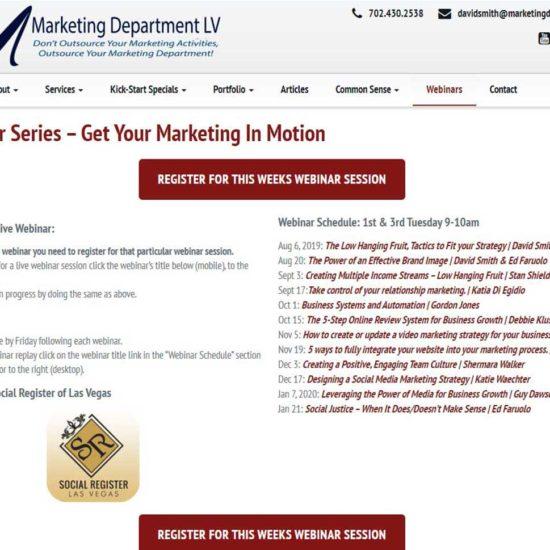 Marketing Professionals Content Creation Webinar Team