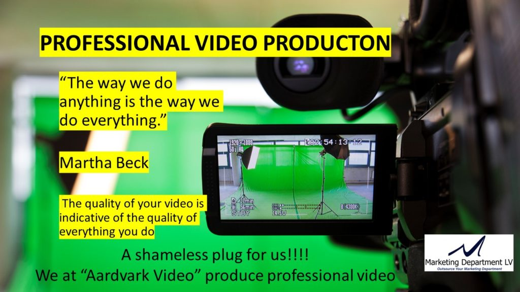 "Video Marketing Tactics, Richard De Paso, In the Webinar Series ""Get Your Marketing In Motion"" by Marketing Department LV LLC, Las Vegas, Nevada, Slide 017"