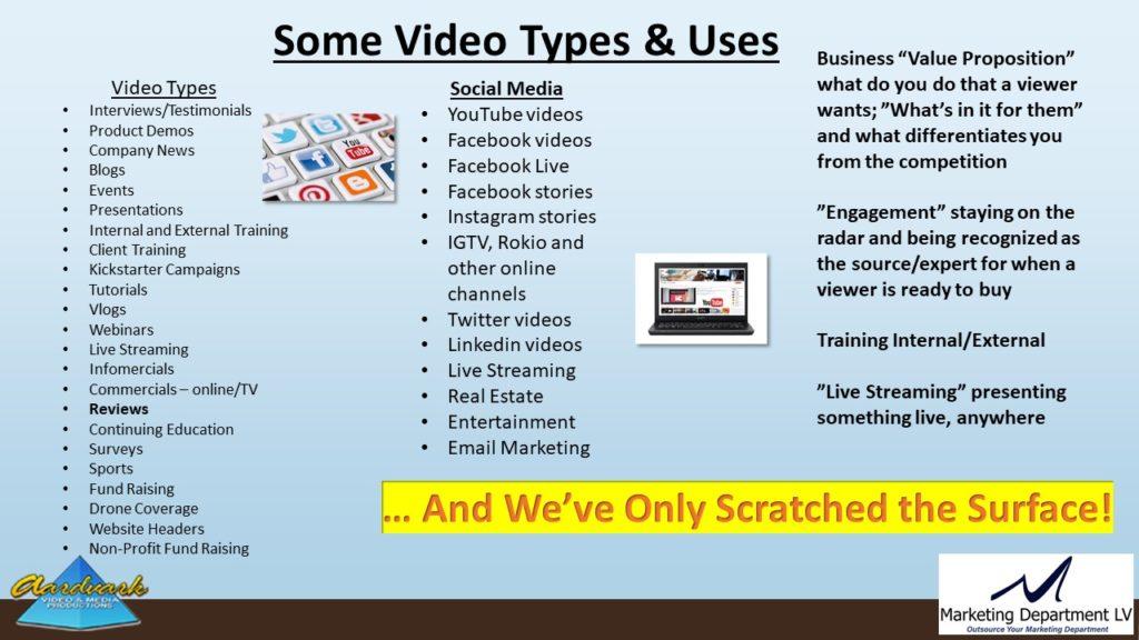 "Video Marketing Tactics, Richard De Paso, In the Webinar Series ""Get Your Marketing In Motion"" by Marketing Department LV LLC, Las Vegas, Nevada, Slide 025"