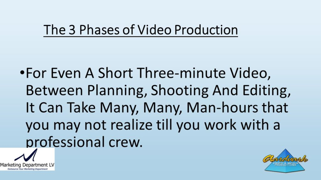 "Video Marketing Tactics, Richard De Paso, In the Webinar Series ""Get Your Marketing In Motion"" by Marketing Department LV LLC, Las Vegas, Nevada, Slide 056"