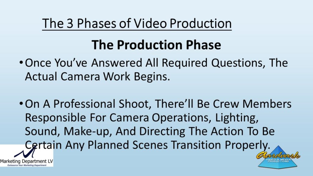"Video Marketing Tactics, Richard De Paso, In the Webinar Series ""Get Your Marketing In Motion"" by Marketing Department LV LLC, Las Vegas, Nevada, Slide 051"