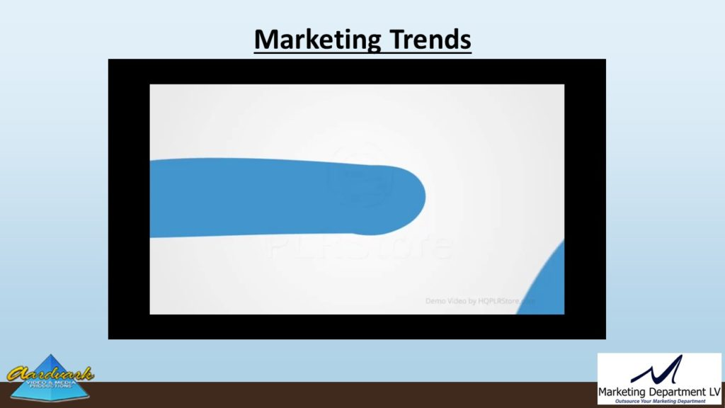 "Video Marketing Tactics, Richard De Paso, In the Webinar Series ""Get Your Marketing In Motion"" by Marketing Department LV LLC, Las Vegas, Nevada, Slide 007"