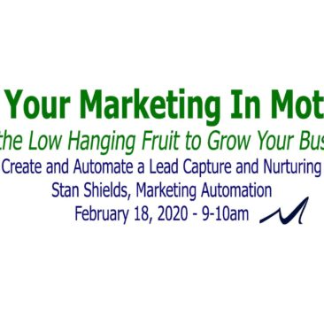 How to Create and Automate a Lead Capture and Nurturing System, Webinar Presented by Stan Shields in the Series,